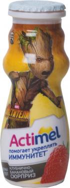 Молочный продукт Актимель Детский Клубника-Банан 2,5% 100г пл/бут/24/БЗМЖ