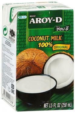 Молоко Кокосовое 60% жир 17% 250мл TetraPak/36 AROY-D