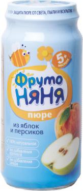 Пюре Фрутоняня 250г яблоко персик ст/б/12