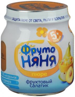 Пюре Фрутоняня 100г фруктовый салатик ст/б/12