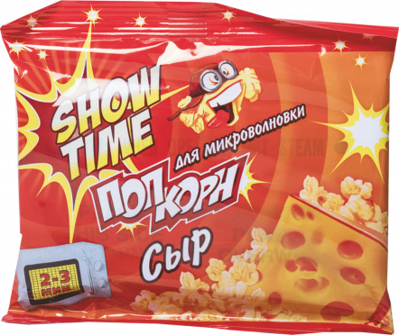 Попкорн для СВЧ SHOW TIME со вкусом сыра 80г/32