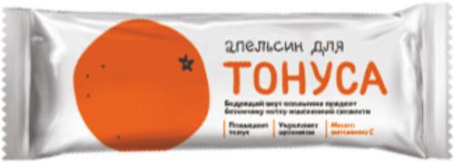 Батончик Апельсин для тонуса 25г/30/Леовит