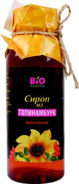 Сироп из клубней топинамбура Шиповник 250г/12/Bio National