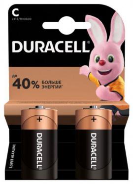 Батарейка DURACELL LR14 C (сред, алкалин)  2шт на бл/10