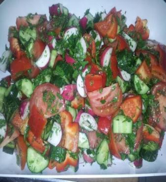 Салат Овощной со сладким перцем, вес/СП