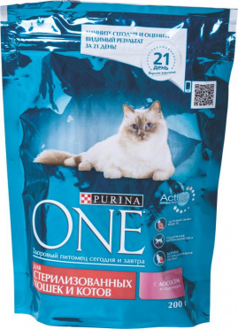 Корм для кошек ПУРИНА ВАН сух. для стерилизованых и кастрированных котов 200г/10