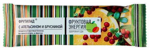 Батончик фруктовый Фрутилад с апельсином и брусникой 30г/24