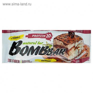 Батончик BOMBBAR Тирамису протеиновый 60г/20