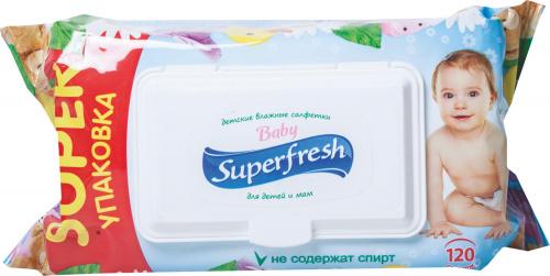 Салфетки влажные Superfresh д/детей и мам 120шт/9
