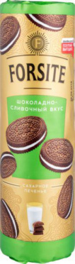 Печенье FORSITE Сахарное шоколадно-сливочное 208г/20