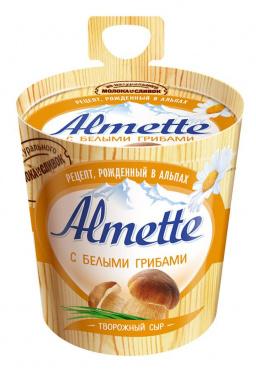 Сыр творожный Альметте белые грибы 150г/8 Хохланд/БЗМЖ