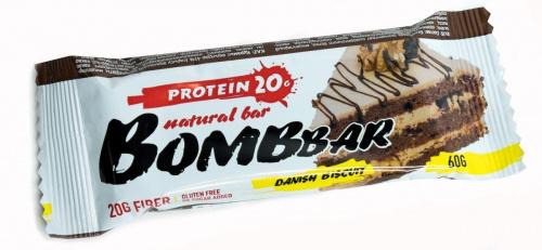 Батончик BOMBBAR Датский бисквит протеиновый 60г/20