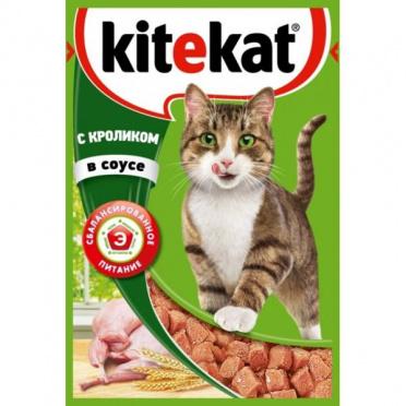 Корм для кошек Китекет кролик в соусе 85г пауч/28