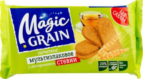 Печенье Хлебный спас Мэджик Грэйн овсяное с семенами льна и экстрактом стевии 150г/10