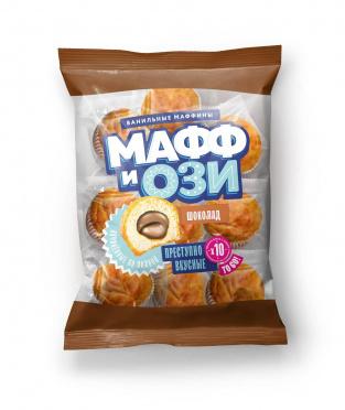 Маффин Мафф и Ози ванильный с шоколадной начинкой 450г/6